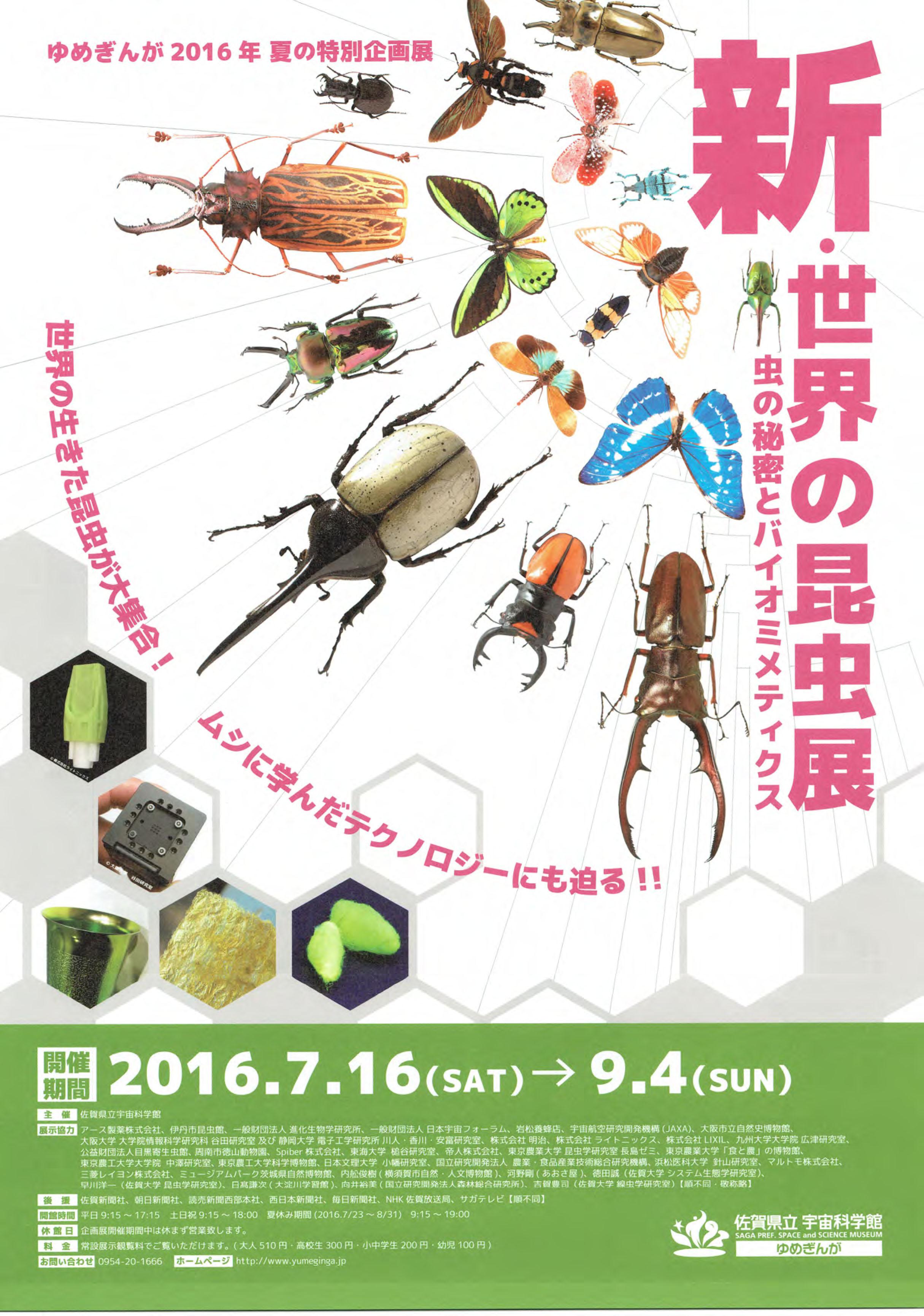 2016.7.16-9.4._佐賀県立宇宙科学館_新・世界の昆虫展-1